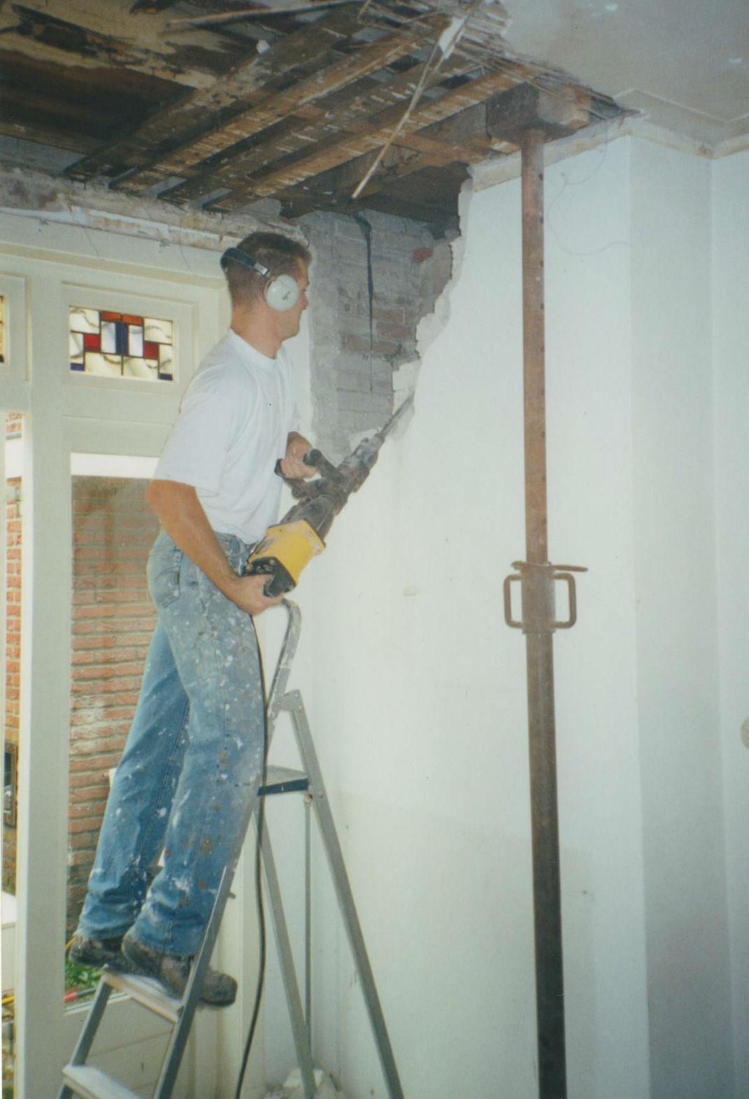 Verbouwingen-muurdoorbraak