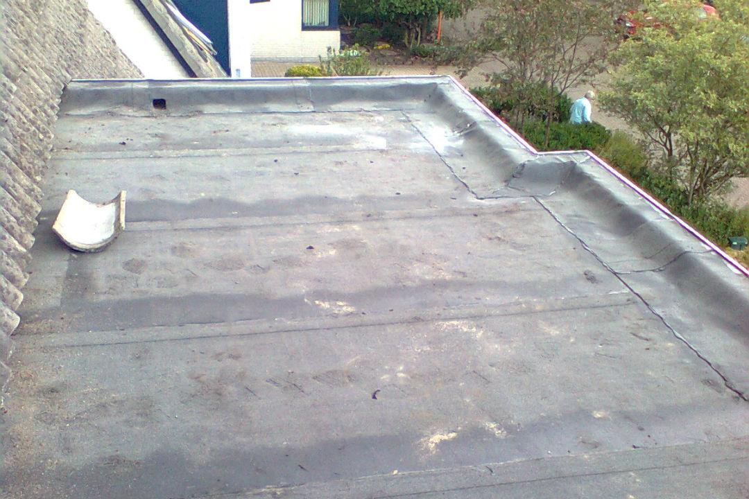 Dakbedekking- platdak- bitumen zonder leislag